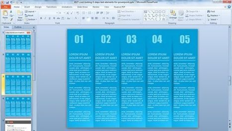 Free Cool Five Steps Powerpoint Template with Textbox | Free Business PowerPoint Templates | Scoop.it
