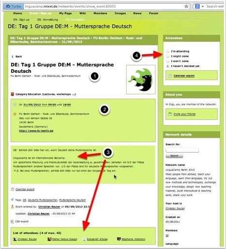 DE: Anleitung B. Etappe 2 - Anmeldung zum LinguaCamp 2013 Berlin | LinguaCamp | Scoop.it