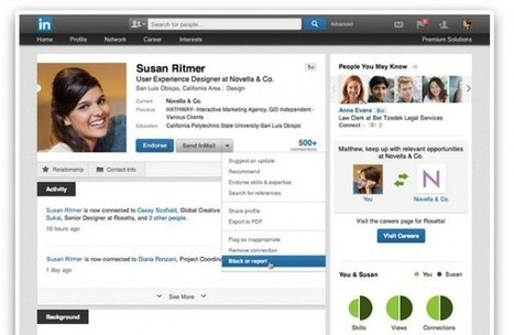 Linkedin ya permite bloquear usuarios   LinkedIn   Scoop.it