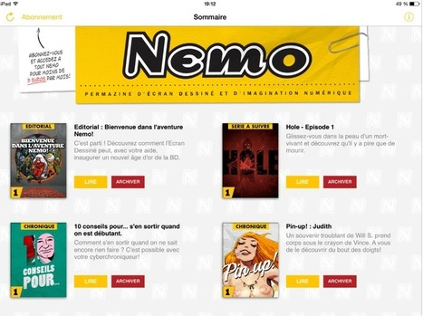 Nemo, un très novateur mensuel de BD digitale pour tablettes   BD interactive   Scoop.it