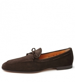 Santoni Chocolate Brown Suede Loafers - Men's Contemporary Shoes and Footwear from Le Marche | Le Marche & Fashion | Scoop.it