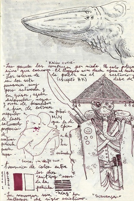 Guillermo Del Toro's Sketchbook Is The Stuff Of Beautiful Nightmares - Huffington Post | Artifact Journals: Documenting the Artistic Process | Scoop.it