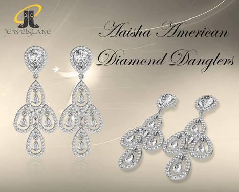 Buy Aaisha American Diamond Danglers | Diamond Jewellery India | Scoop.it