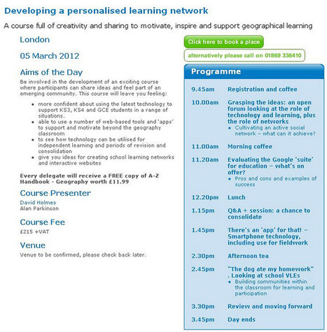 Living Geography: Developing a personalised learning network (PLN) | Twitter for Teachers | Twitter for Teachers | Scoop.it