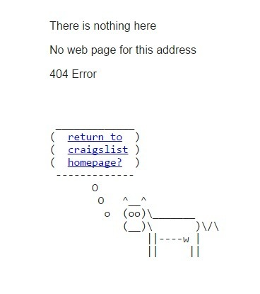 404 on Craigslist | ASCII Art | Scoop.it