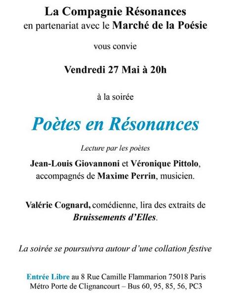 Vendredi 27 mai 2016 :: lecture-rencontre avec Jean-Louis Giovannoni et Véronique Pittolo (75018) | TdF  |   Poésie contemporaine | Scoop.it