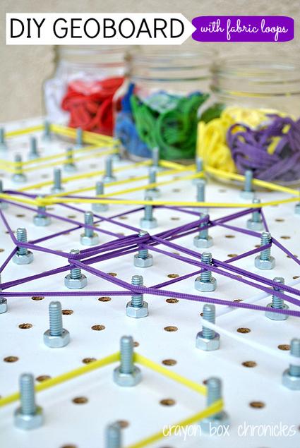 DIY Geoboard with Fabric Loops   HH-LH matematikaz goxatzen-E.Infantil y primaria disfrutando de las matematicas- Enjoying mathematics   Scoop.it