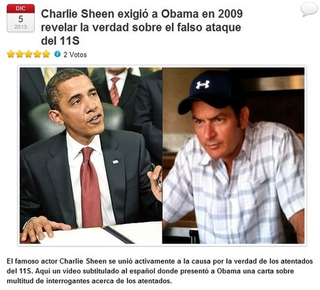 Charlie Sheen exigió a Obama en 2009 revelar la verdad sobre el falso ataque del 11S | La revolution de ARMAK | Scoop.it
