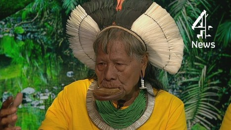 ▶ Brazil World Cup 2014: Amazon tribe leader's message to England team - YouTube#t=35 | Rainforest EXPLORER:  News & Notes | Scoop.it