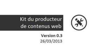 Benchmark de site internet [Kit du producteur de contenus web V0.3] | We(b) love contents | Scoop.it