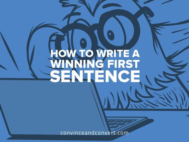 How to Write a Winning First Sentence | Redacción de contenidos, artículos seleccionados por Eva Sanagustin | Scoop.it