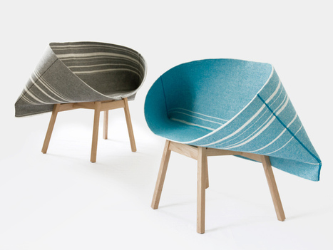 "Felt and wood / ""Selvedge"" by Raw Edges 