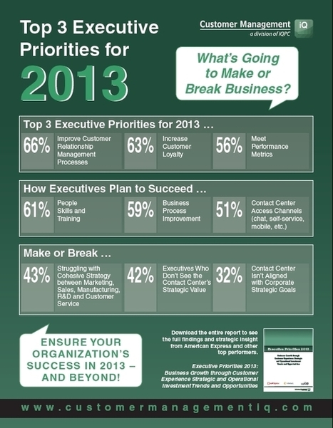 Hot Infographic: 2013's Top 3 Executive Priorities Revealed by Brian Cantor | Designing  service | Scoop.it