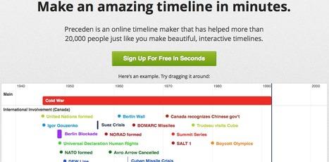 Timeline Maker   Preceden - Make an amazing timeline in minutes   Teaching L2 Reading   Scoop.it