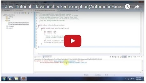 Java Tutorial : Java unchecked exception(ArithmeticException) | JAVA | Scoop.it