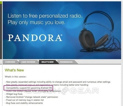 New Android OS version hinted by Pandora developers - SlashGear | Android by MavajSunCo.com | Scoop.it