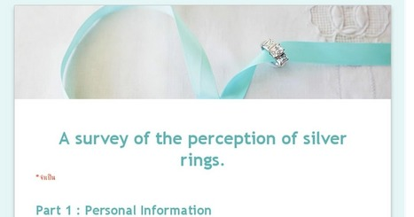 A survey of the perception of silver rings. | shubush jewellery adornment | Scoop.it