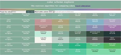 Finding nearest match and other palettes in other fixed color schemes   desktop liberation   Scoop.it