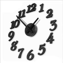 Home Decor DIY Wall Clock Unique Large Stickers Modern Digit Number Interior | New inventions | Scoop.it