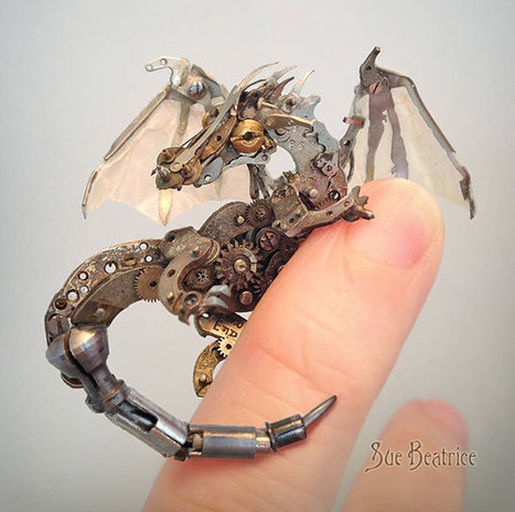 Old Watch Parts Recycled Into Steampunk Sculptures By Susan Beatrice | Cybofree : Techno Social Issues for a Postmodern Transhuman Society | Scoop.it