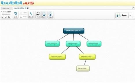 Bubbl.us, herramienta 2.0 para crear y compartir mapas conceptuales | Tecnología e inclusión. | Scoop.it