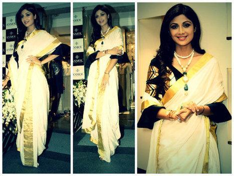 Shilpa Shetty Looks Classy In Masaba Saree   CHICS & FASHION   Scoop.it
