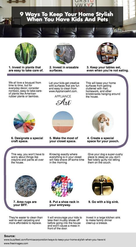 9 Simple Ways to Keep Home Stylish When you have Kids and Pets | All Infographics | Scoop.it