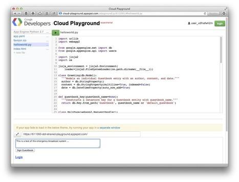 Codecademy for the cloud: Google's new Cloud Playground is pure genius | Informatica in het voortgezet onderwijs | Scoop.it