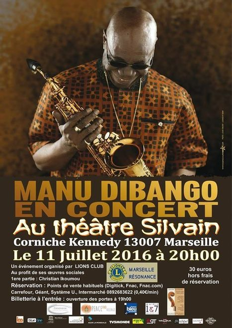 Manu Dibango en concert à Marseille  | Communiquaction | Communiquaction News | Scoop.it