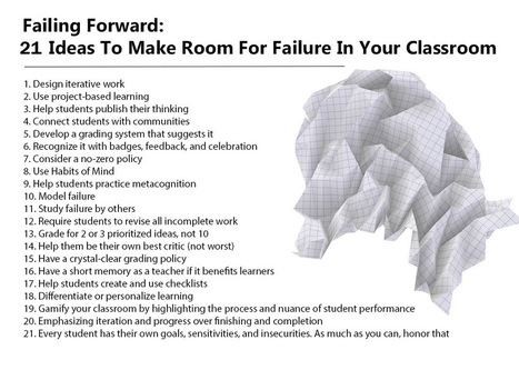 Failing Forward: 21 Ideas To Use It In Your Classroom | Cool School Ideas | Scoop.it