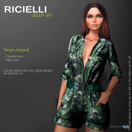 Kenya Jumpsuit Group Gift by Ricielli | Teleport Hub - Second Life Freebies | Second Life Freebies | Scoop.it