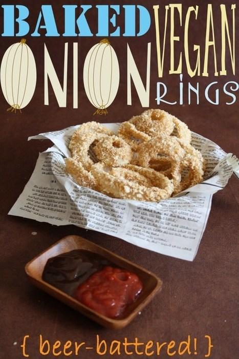 #RECIPE - Baked Vegan Beer-Battered Onion Rings | Vegan Eats | Scoop.it