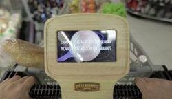 Un écran sur la chariot pour acheter les ingrédients d'une recette | Com-crosscanal | Scoop.it