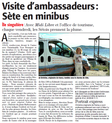 Sète en minibus avec Buscapade | Sète Tourisme : les ambassadeurs-reporters sur le terrain | Scoop.it