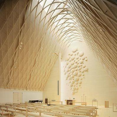 Kuokkala Church by Lassila Hirvilammi and Luonti - Dezeen   Arquitectura digital   Scoop.it