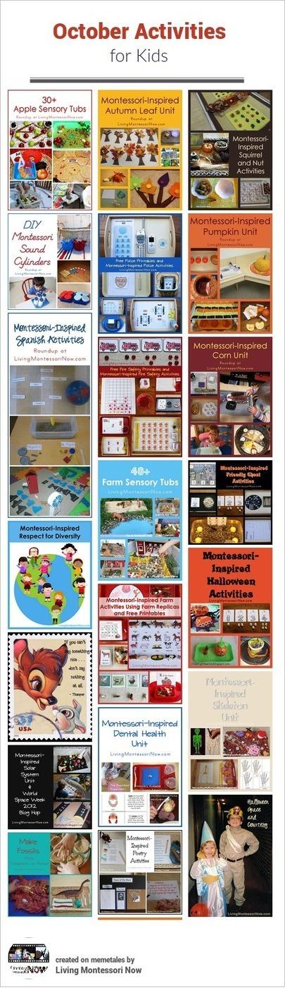 October Themed Activities for Kids | Montessori Inspired | Scoop.it