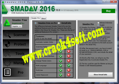 Smadav 10.5 PRO 2016 Serial Key+Activation Key Download Free | www.sarkarzone.com | Scoop.it