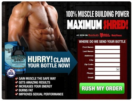 Maximum Shred Muscle Building Supplement Reviews – Gain Lean Muscles and Shed Pounds Faster! | You will increase confidence and attract ladies | Scoop.it