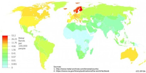 Why Is Heavy Metal Most Popular In Wealthy Countries? - Huffington Post | BAHS World Geography | Scoop.it
