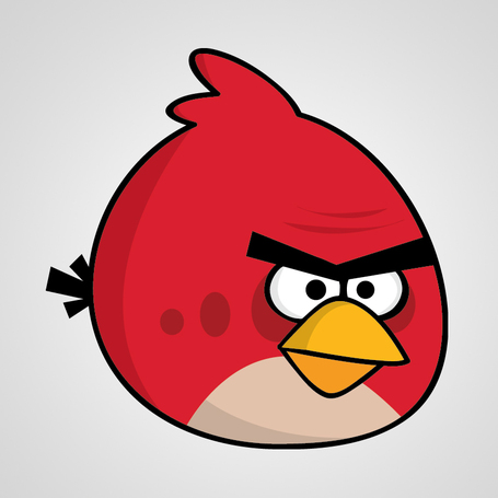How to create Angry Birds characters in Adobe Illustrator. (Red Bird) • Dawson Graphics | Angry Birds | Scoop.it