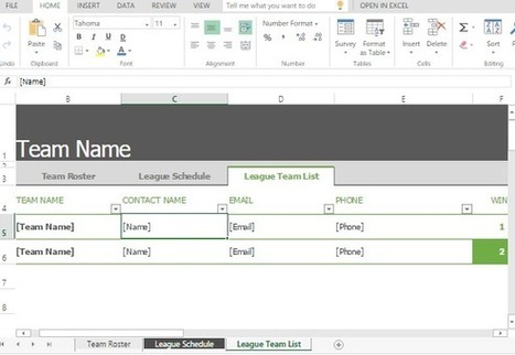 Sports Roster Excel Template | Free Microsoft Office Templates | Scoop.it
