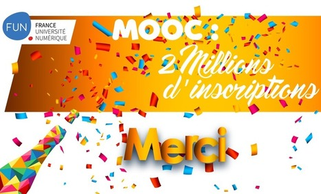 Fun-Mooc totalise plus de 2 millions d'inscriptions ! | MOOCAFET | Scoop.it
