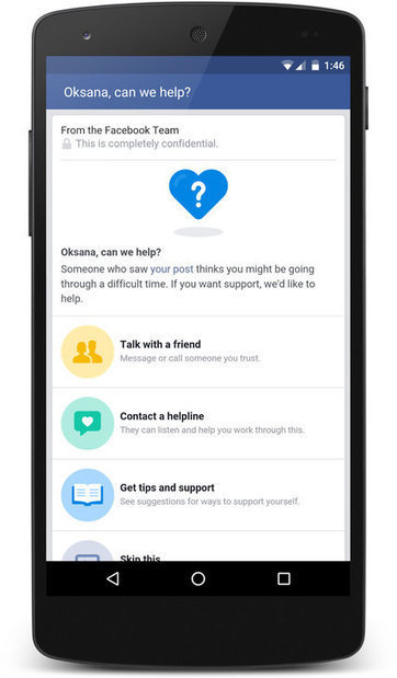 Facebook Offers Tools for Those Who Fear a Friend May Be Suicidal | digital citizenship | Scoop.it