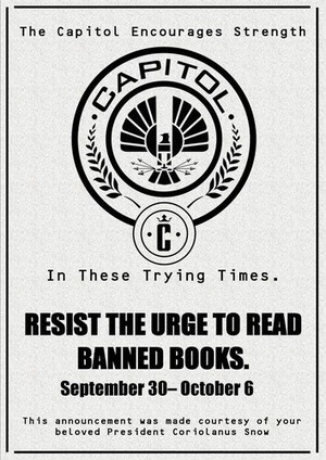 'The Hunger Games' Banned Books Week posters | Creativity in the School Library | Scoop.it