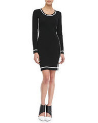 Cal Long-Sleeve Contrast-Trim Dress | expensiven | Scoop.it