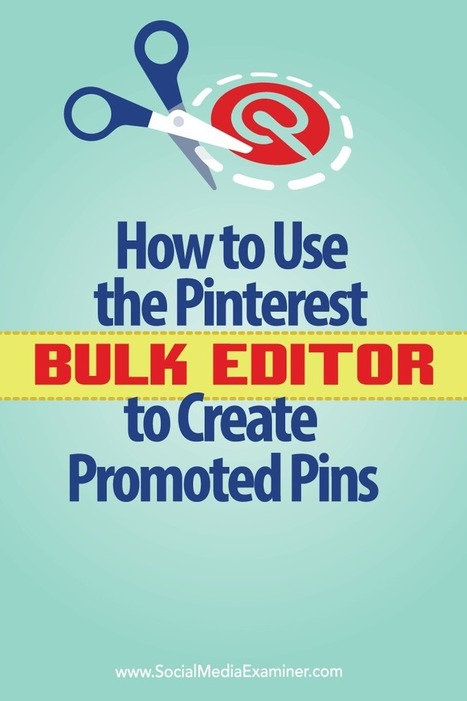 How to Use the Pinterest Bulk Editor to Create Promoted Pins : Social Media Examiner | Pinterest for Business | Scoop.it