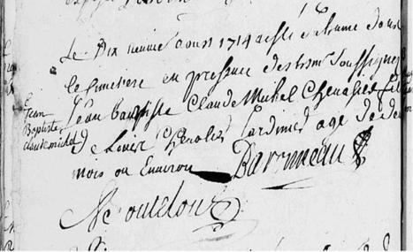 19 août 1714 – Baptême de Jean-Baptiste Chevalier | Généalogie | Scoop.it