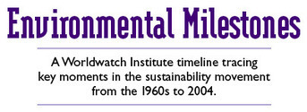 Environmental Milestones: A Worldwatch Institute timeline tracing key moments in the sustainability movement from the 1960s to 2004 | Education for Sustainable Development | Scoop.it