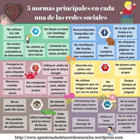 5 normas de las principales Redes Sociales | Las TIC en el aula de ELE | Scoop.it
