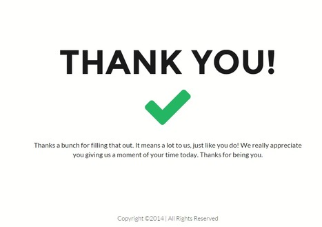 Simple Great Thank You Page   Website Pages Advice   Scoop.it
